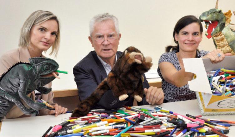 Verbrauchte Stifte – neue Handpuppen