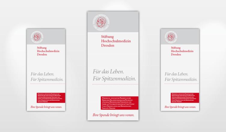 Flyer der Stiftung Hochschulmedizin
